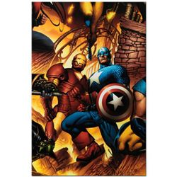 "Marvel Comics ""New Avengers #6"" Numbered Limited Edition Giclee on Canvas by Bryan Hitch with COA."