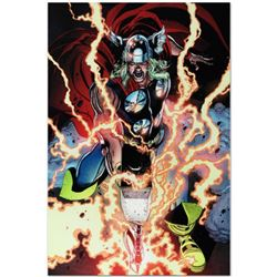 "Marvel Comics ""Thor First Thunder #1"" Numbered Limited Edition Giclee on Canvas by Tan Eng Huat with"
