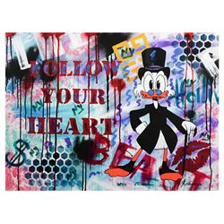 "Nastya Rovenskaya- Mixed Media ""Follow Your Heart"""