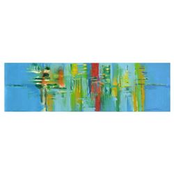 """Roberto Donatelli - """"Landscape with Reflections"""" Original Oil Painting on Canvas, Titled Inverso and"""