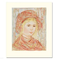 """""""Liv"""" Limited Edition Serigraph by Edna Hibel (1917-2014), Numbered and Hand Signed with Certificate"""