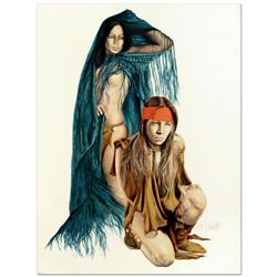 Popo & Ruby Lee, Limited Edition Serigraph, Numbered and Hand Signed by the Artist.