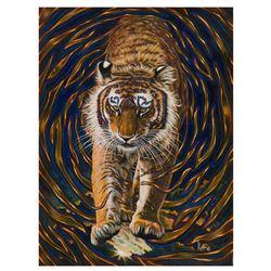 "Vera V. Goncharenko- Original Giclee on Canvas ""Wild Tiger"""
