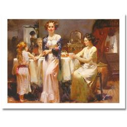 """Pino (1939-2010) """"The Gathering"""" Limited Edition Giclee. Numbered and Hand Signed; Certificate of Au"""