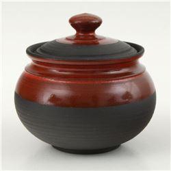 Eugenijus Tamosiunas - Hand Made Ceramic Jar with Lid, Hand Signed.