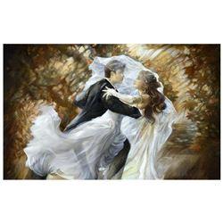 """Lena Sotskova, """"Together Forever"""" Hand Signed, Artist Embellished Limited Edition Giclee on Canvas w"""