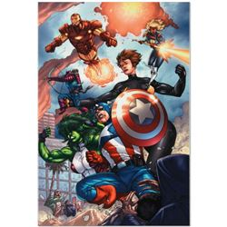 "Marvel Comics ""Avengers #84"" Numbered Limited Edition Giclee on Canvas by Scott Kolins with COA."