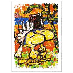 "Tom Everhart- Hand Pulled Original Lithograph ""Hitched"""