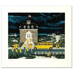 """""""Downpour Down East"""" Limited Edition Serigraph by Jane Wooster Scott, Numbered and Hand Signed with"""
