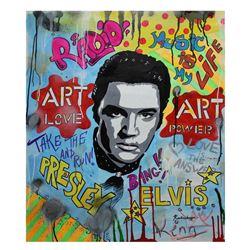 "Nastya Rovenskaya- Original Oil on Canvas ""Time For Elvis """