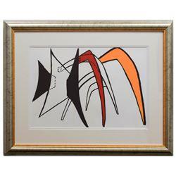 "Alexander Calder- Lithograph ""DLM141 - Tamanoir jaune"""
