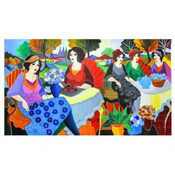 "Patricia Govezensky- Original Acrylic on Canvas ""Sisters"""