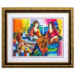 "Patricia Govezensky- Original Watercolor ""Mona and I"""