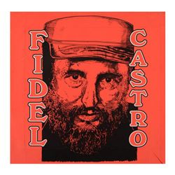"""Steve Kaufman (1960-2010), """"Fidel Castro"""" Limited Edition Hand Pulled Silkscreen on Canvas, TP Numbe"""