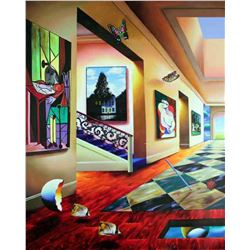 """Ferjo """"Perfect Afternoon (Left)"""" Giclee on Canvas"""