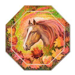 "Alexander Antanenka, ""Pretty Pony"" Original Oil Painting on Wood (40"" x 40""), Hand Signed with Certi"