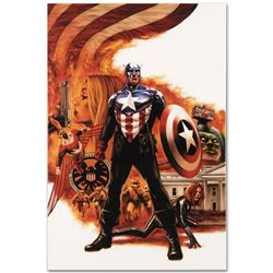 """Marvel Comics """"Captain America #41"""" Numbered Limited Edition Giclee on Canvas by Steve Epting with C"""