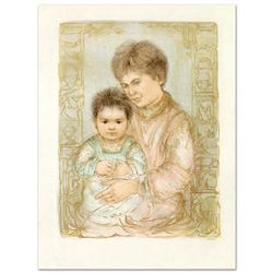 """""""Ulla and Eric"""" Limited Edition Lithograph by Edna Hibel (1917-2014), Numbered and Hand Signed with"""