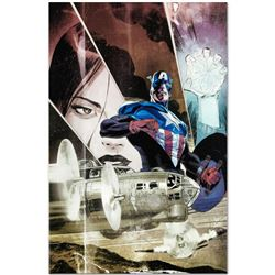 """Marvel Comics """"Captain America: Forever Allies #3"""" Numbered Limited Edition Giclee on Canvas by Lee"""