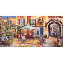 "Alexander Borewko- Original Giclee on Canvas ""Nightlife"""