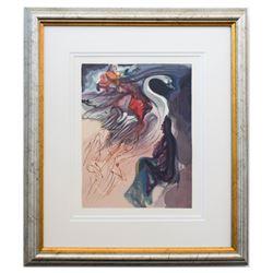 "Salvador Dali- Original Color Woodcut on B.F.K. Rives Paper ""Paradise 19"""