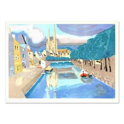"""Georges Lambert (1919-1998), """"St. Malo II"""" Limited Edition Lithograph, Numbered and Hand Signed."""