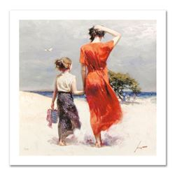 """Pino (1939-2010) """"Afternoon Stroll"""" Limited Edition Giclee. Numbered and Hand Signed; Certificate of"""