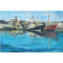 """Alex Zwarenstein """"Penzance Harbor"""" Giclee on Canvas"""