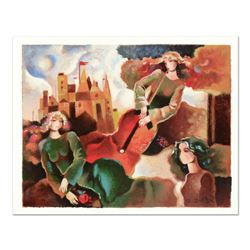 """Galina Datloof, """"Musical Flight"""" Limited Edition Serigraph, Numbered and Hand Signed with Certificat"""