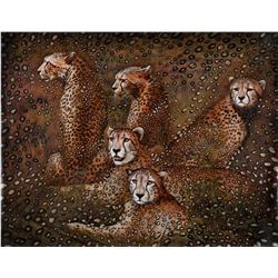 "Vera V. Goncharenko- Original Giclee on Canvas ""Leopards"""