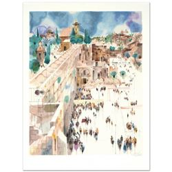 """Jerusalem-The Wall"" Limited Edition Serigraph by Shmuel Katz (1926-2010), Numbered and Hand Signed"