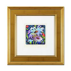 "Simon Bull, ""Summer Breeze"" Framed Hand Colored Limited Edition Etching, Numbered and Hand Signed wi"