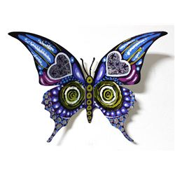 "Patricia Govezensky- Original Painting on Cutout Steel ""Butterfly CCXLV"""