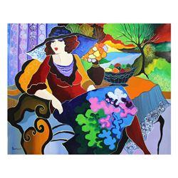 "Patricia Govezensky- Original Acrylic On Canvas ""Amy"""