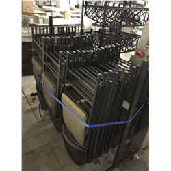 Lot of 40 folding Office Chairs with trolly