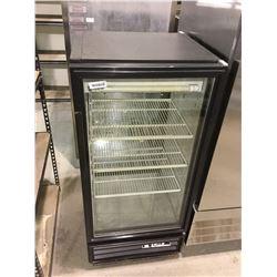 "True 25"" Black Glass Door Pass-Through Merchandiser - Model: GDM-10PT"