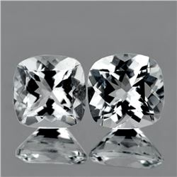 Natural Diamond White Aquamarine Pair 6.50 MM - FL