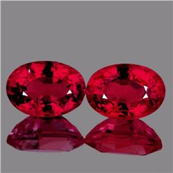 Natural AAA Red Mozambique Ruby Pair
