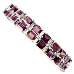 Natural Pink Raspberry Rhodolite Garnet 172 Ct Bracelet