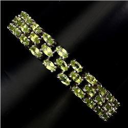 Natural Top Rich Green Peridot 154.33 Ct Bracelet
