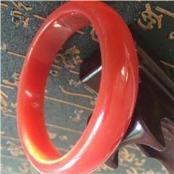 Natural Chinese Jade Orange/Red  Bangle