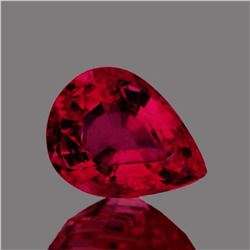 Natural Pear  Red Mozambique Ruby