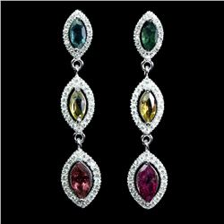 Natural Unheated Marquise Tourmaline Earrings