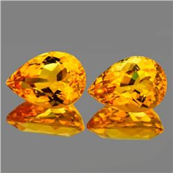 Natural Golden Orange Citrine Pair [Flawless-VVS]