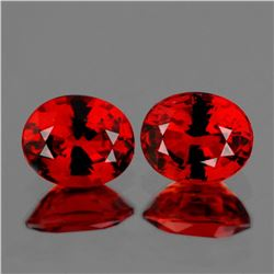 Natural Burma Ruby Pair 5x4 MM - VVS