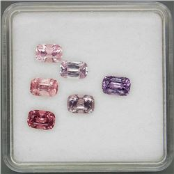 Natural Fancy Color Burma Spinel 6Pcs/4.06Ct.