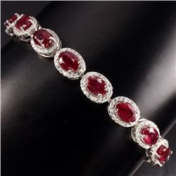 Genuine Vivid / Blood Red Ruby Bracelet