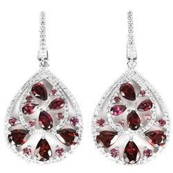 NATURAL  RHODOLITE GARNET Earrings