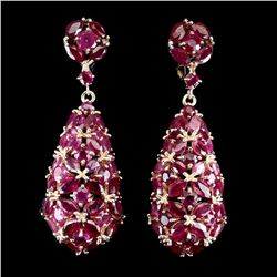 Natural Stunning Red Ruby Earrings