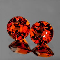 Natural Mandarin Orange Spessartite Garnet Pair {VVS}